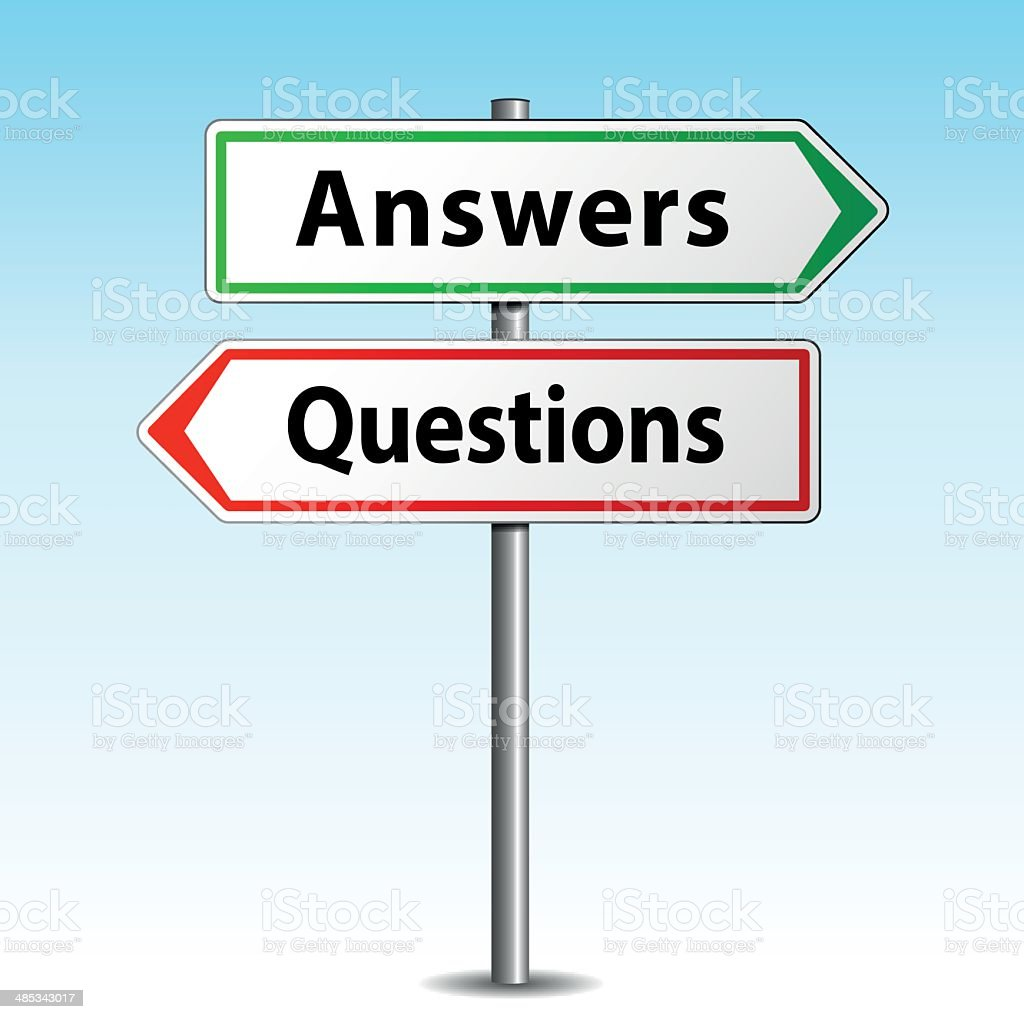 Answers and questions signs royalty-free answers and questions signs stock vector art & more images of advice