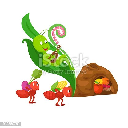 istock ant and the grasshopper  fairy tale 912380782