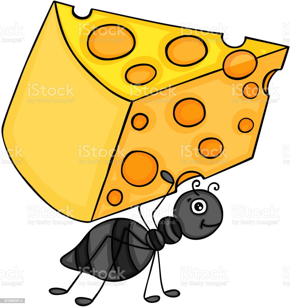 Ameise Mit Scheibe Käse Stock Vektor Art und mehr Bilder von Ameise ...