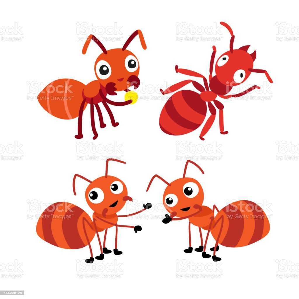 ant character vector design vector art illustration