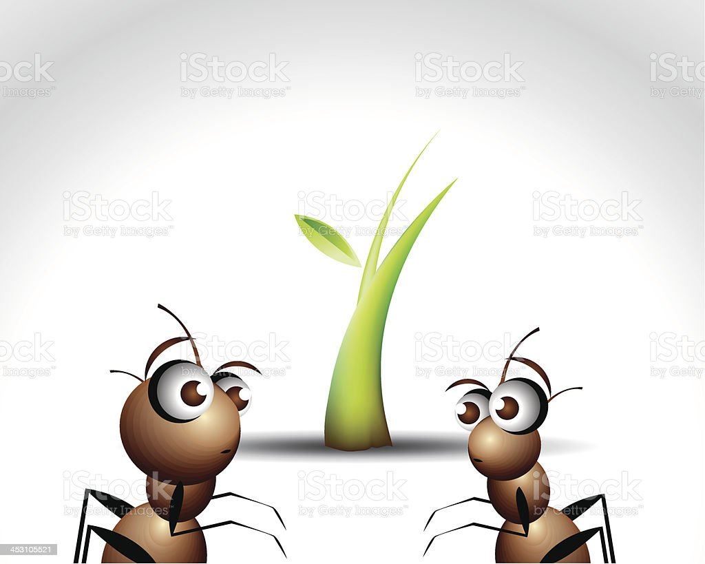 Ant Character royalty-free stock vector art