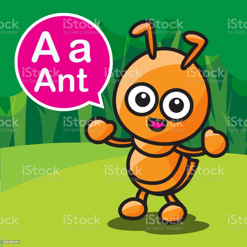 Fourmi Couleur Dessin Animé Alphabet Pour Enfants Et à