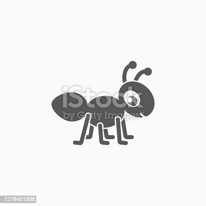 istock ant icon, animal vector 1278451938
