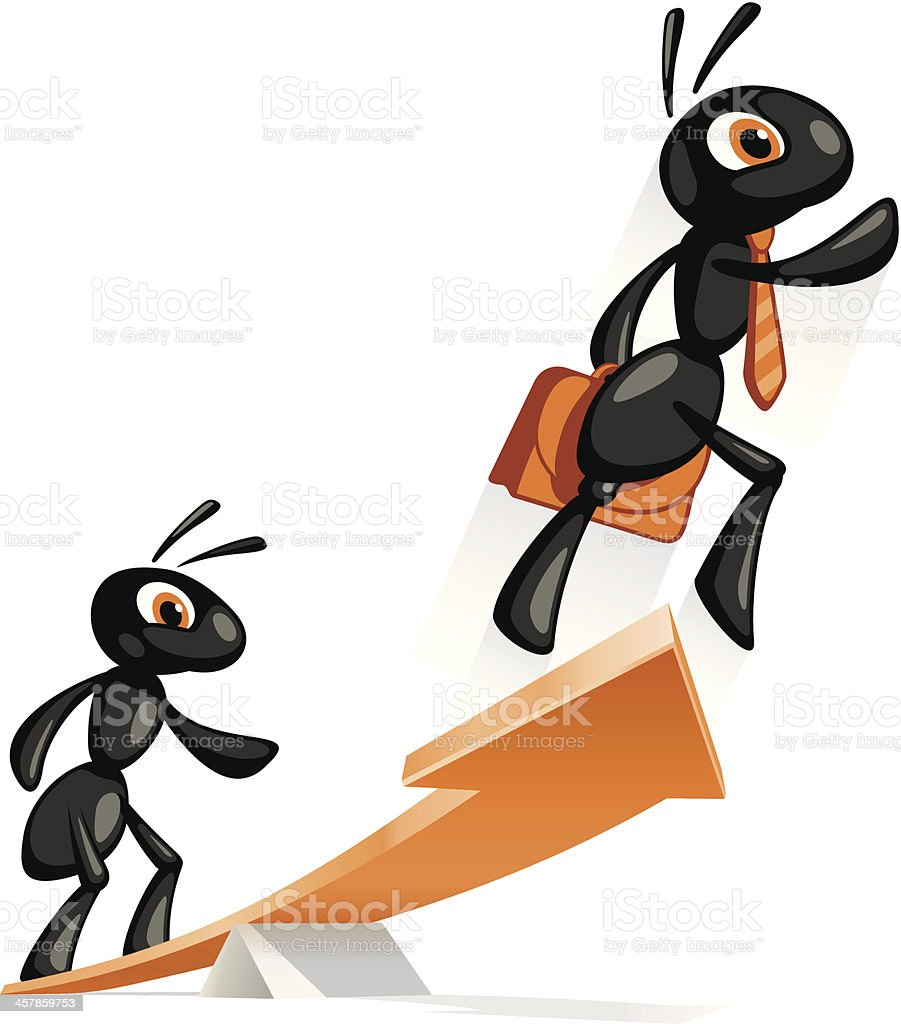 Ant Jump Up vector art illustration