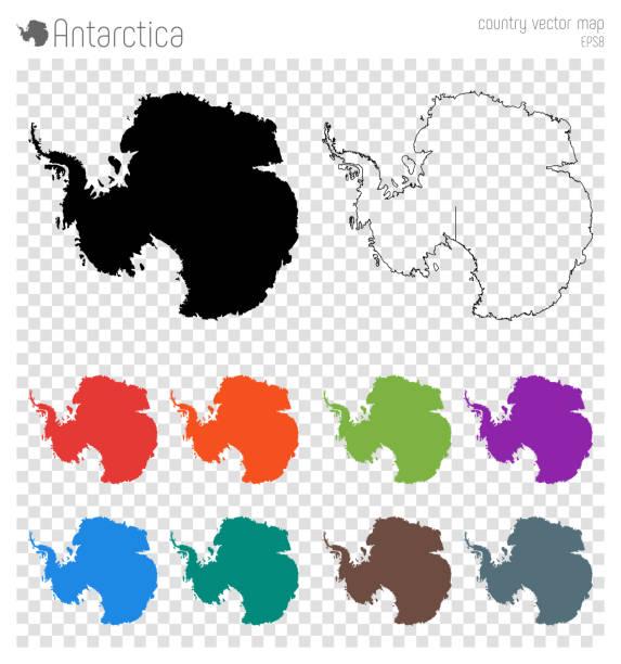 Antarktis hohe detaillierte Karte. – Vektorgrafik