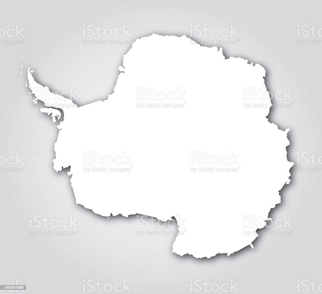 Antártida Silueta blanca - ilustración de arte vectorial