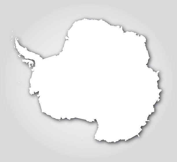 ilustraciones, imágenes clip art, dibujos animados e iconos de stock de antártida silueta blanca - mapa de antártida