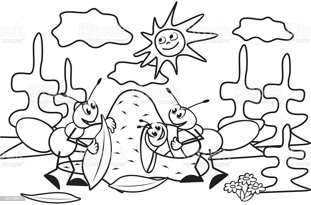 Hormiga Libro Para Colorear - Arte vectorial de stock y más imágenes ...