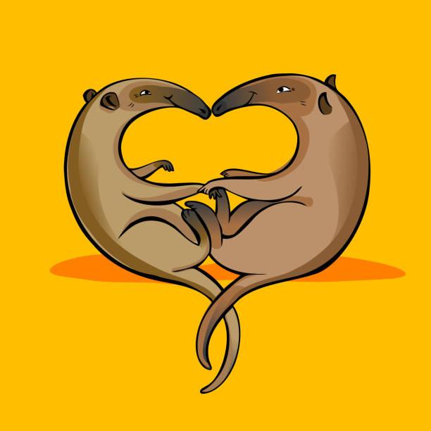 anteaters - ameisenbär stock-grafiken, -clipart, -cartoons und -symbole