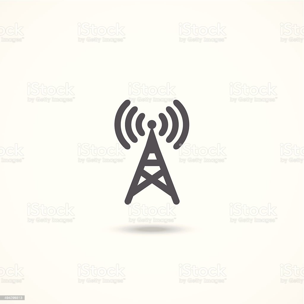 Antenna icon vector art illustration