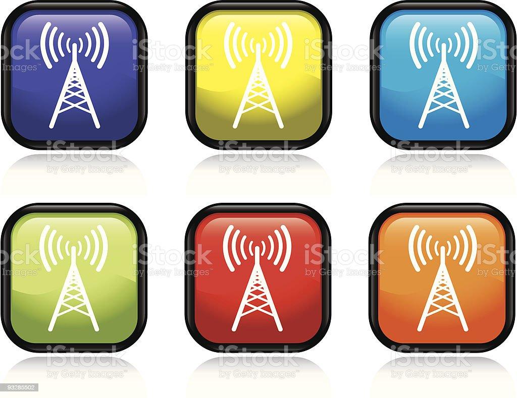 Antenna Icon royalty-free stock vector art