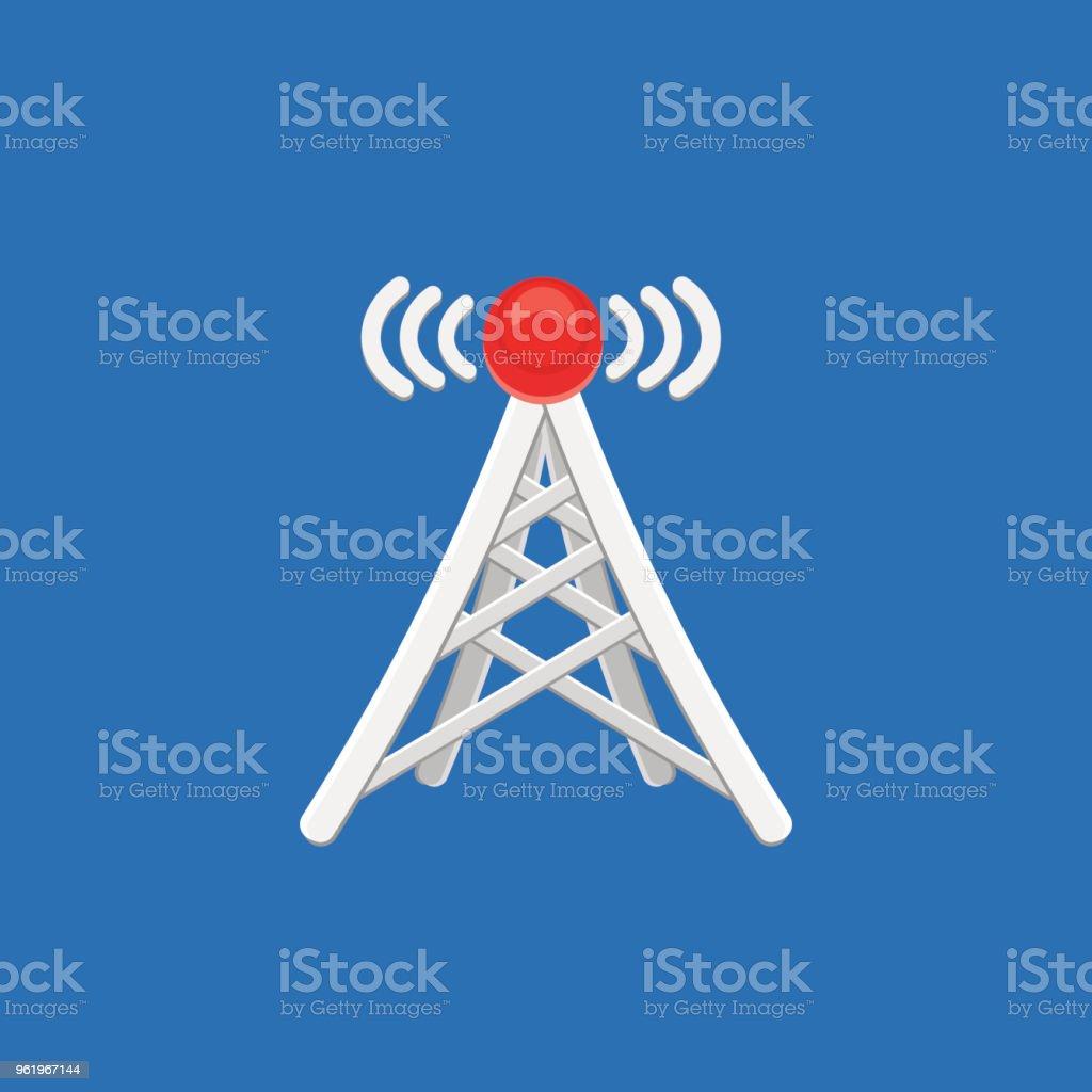Antenneturmsymbol Mit Signal Vektorillustration Stock Vektor Art und ...