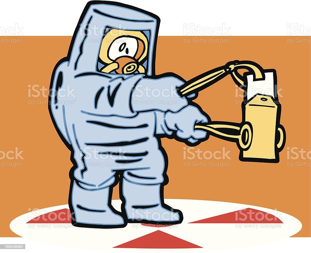 Anthrax handling vector art illustration