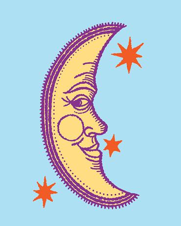 Anthropomorphic crescent moon