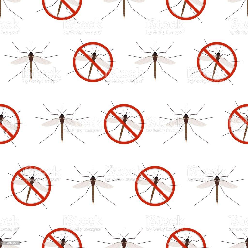 Anti mosquito seamless pattern vector art illustration