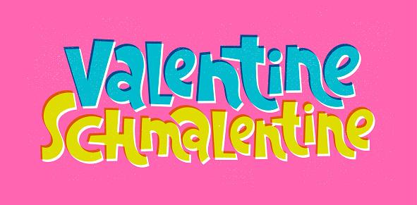 Anti Valentine hand drawn lettering