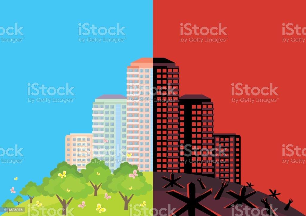 anti war background vector art illustration