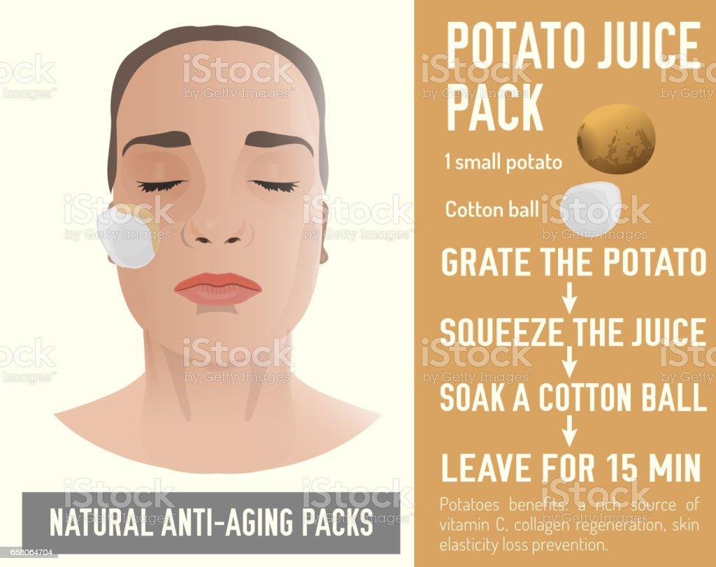 Anti-Aging Face Pack vector art illustration