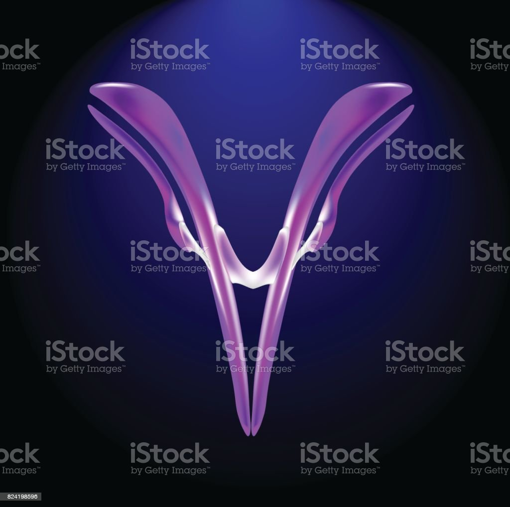 antibody, high technology microbiology representation, on a dark background vector art illustration