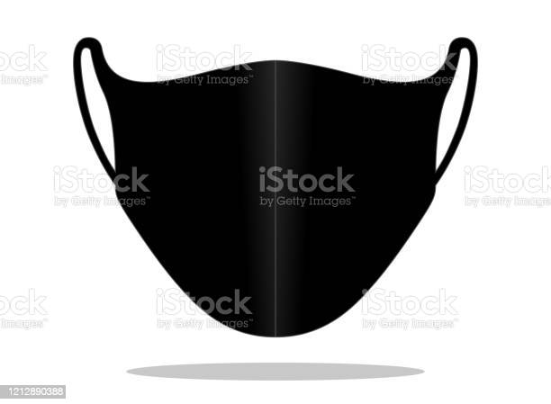 Antidust Face Mask Vector For Template Stock Illustration - Download Image Now