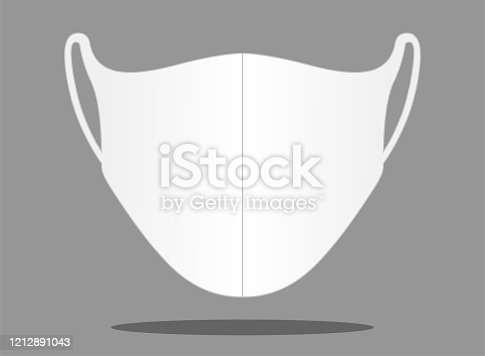 istock Anti-Dust Face Mask Vector For Template. 1212891043