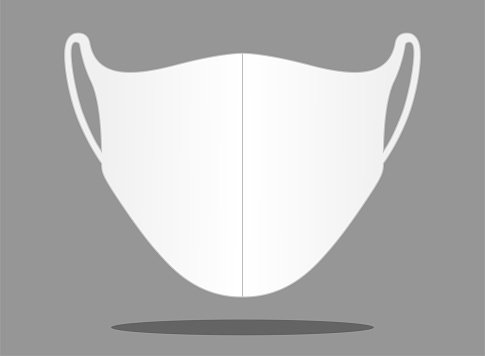 Anti-Dust Face Mask Vector For Template.
