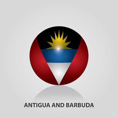 Antigua And Barbuda - Flags of Central America and the Caribbean Vector Illustration