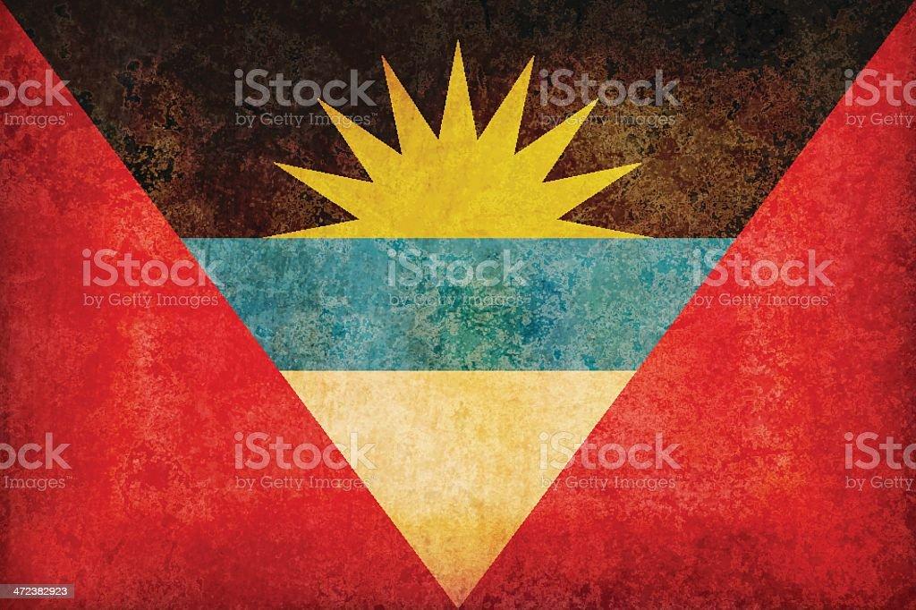 Antigua and Barbuda grunge flag royalty-free stock vector art