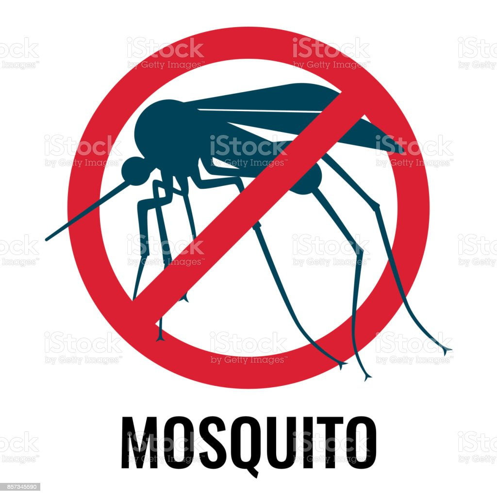 Anti-mosquito label depicting fly in circle vector illustration vector art illustration