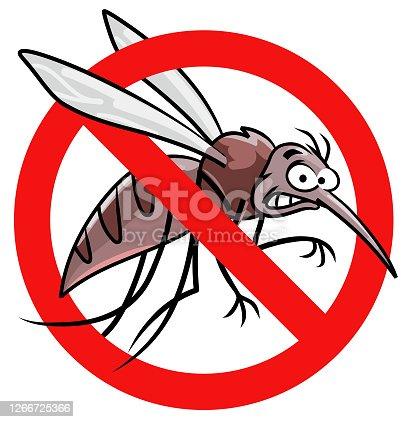 istock Anti-Mosquito Sign 1266725366