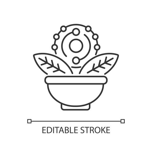 illustrations, cliparts, dessins animés et icônes de icône linéaire antioxydante - infusion pamplemousse