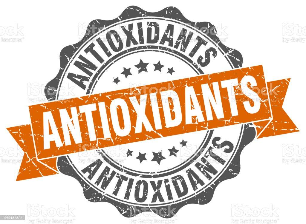 sello de antioxidantes. signo. sello - ilustración de arte vectorial