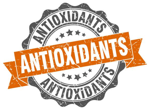 illustrations, cliparts, dessins animés et icônes de timbre d'antioxydants. signe. joint d'étanchéité - antioxydant