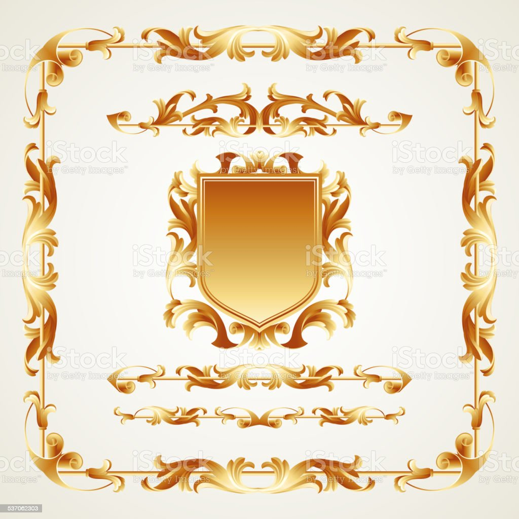 Antiquated ornate patterns. Vector illustration vector art illustration