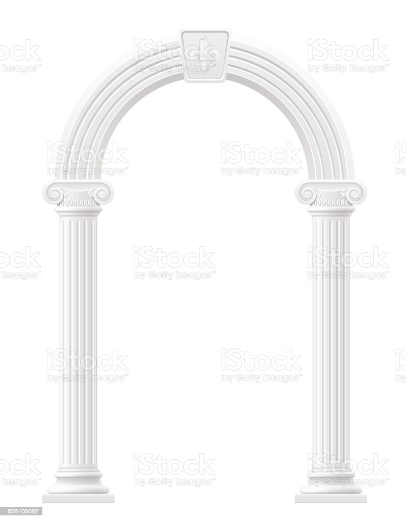 antique arch stock vector illustration vector art illustration