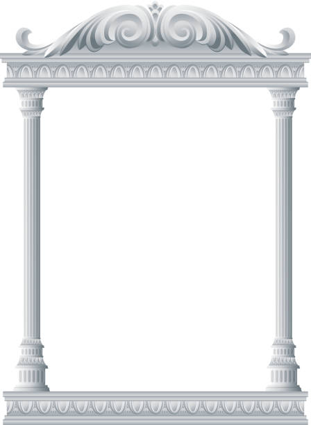 antike architektur - gesims stock-grafiken, -clipart, -cartoons und -symbole