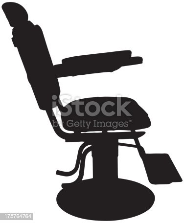 Antique Barber Chair Silhouette Stock Vector Art & More ...