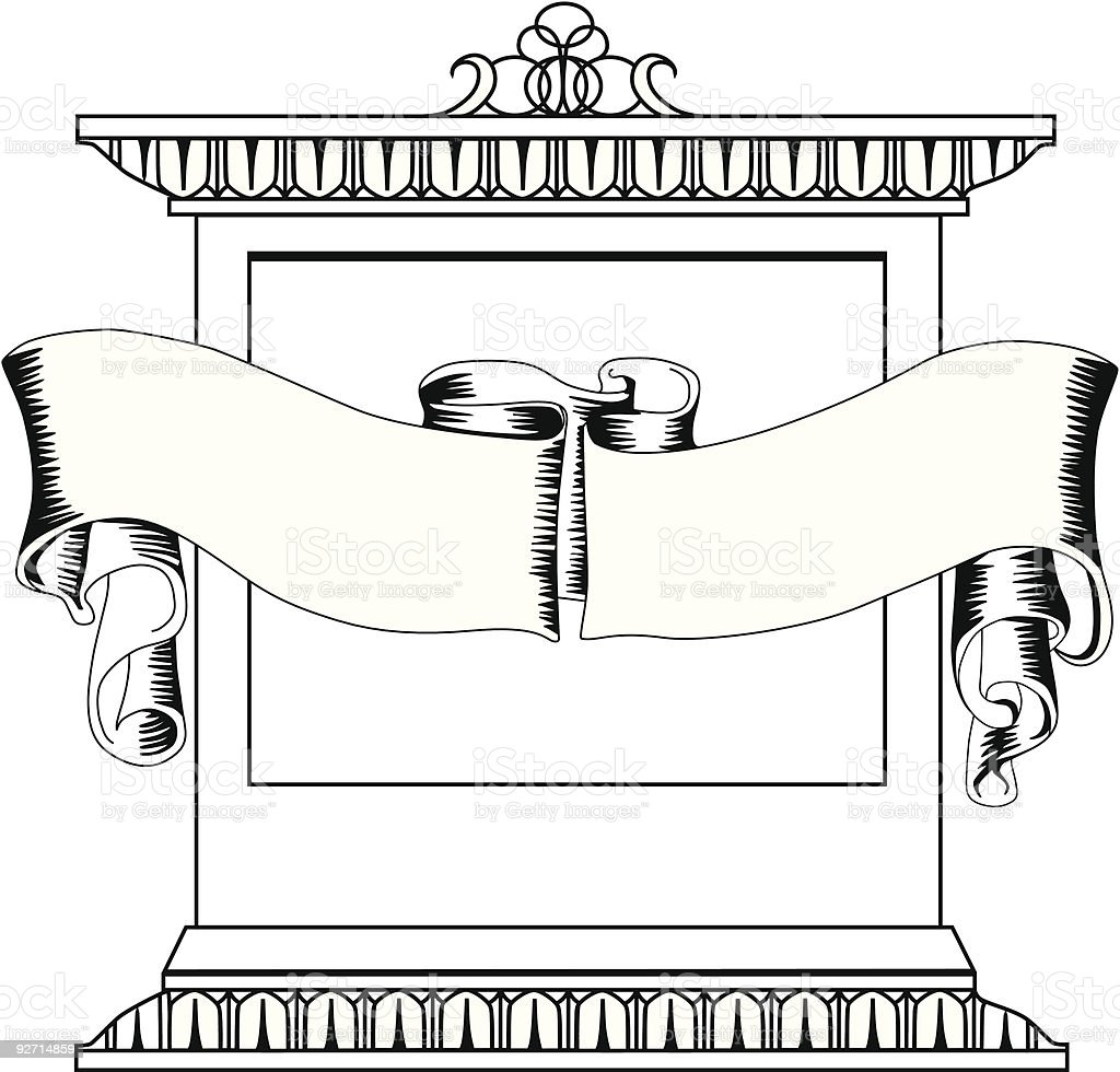 Antique bookplate royalty-free stock vector art