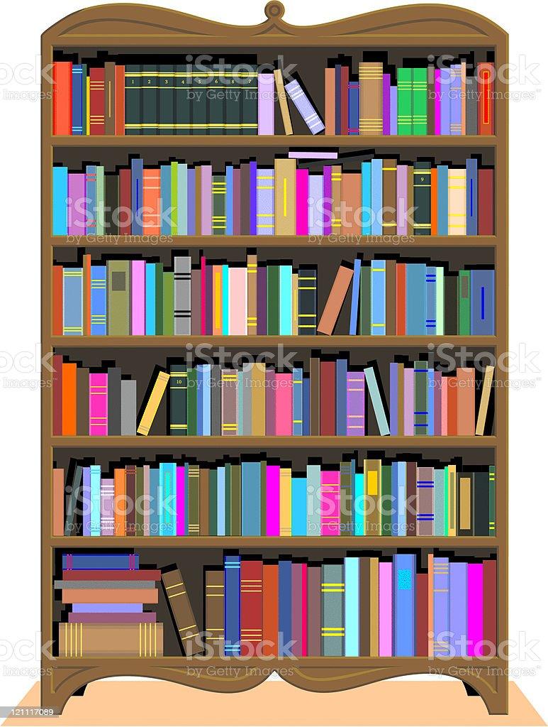 Antique Bookshelf royalty-free stock vector art