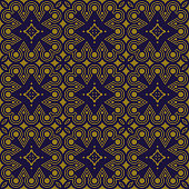 Antique brown background Aboriginal Round Check Cross Frame Line