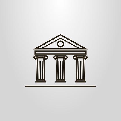 antique building linear icon