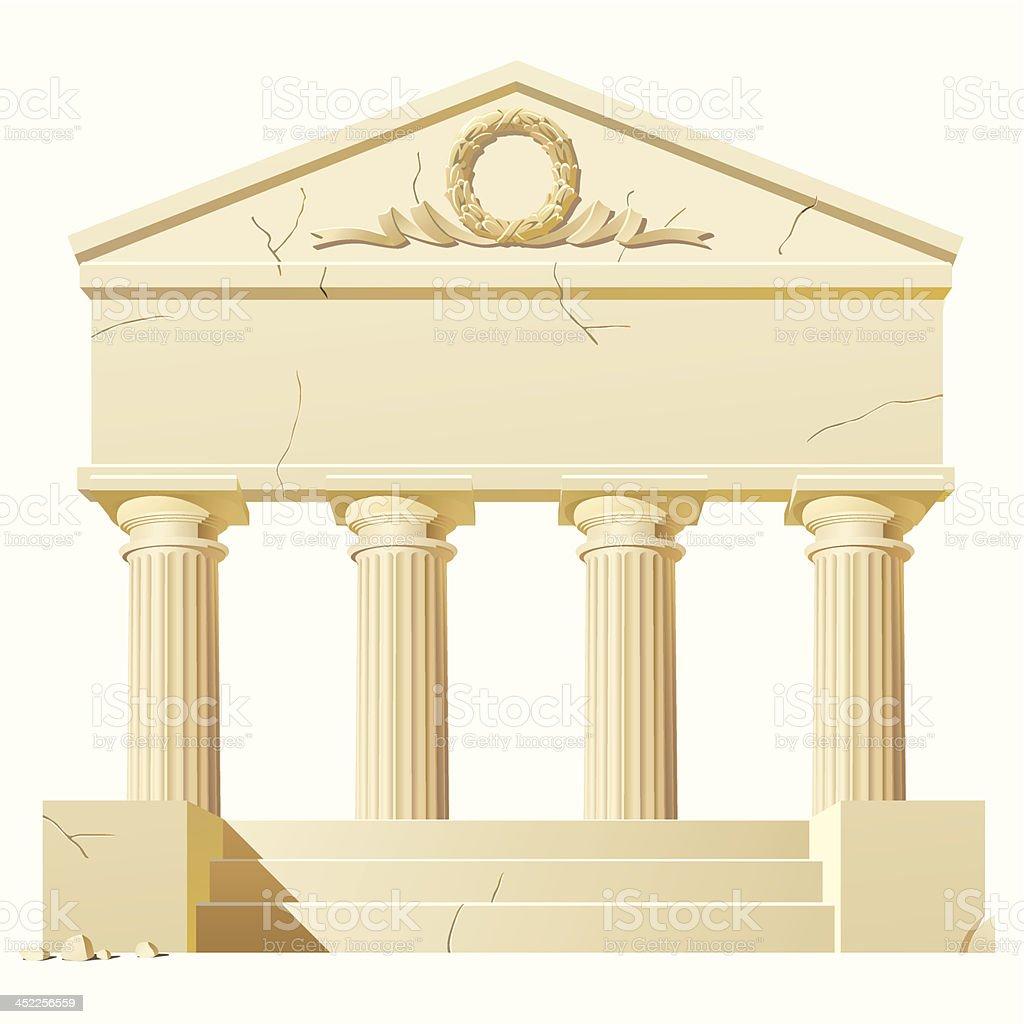 Antique building royalty-free stock vector art