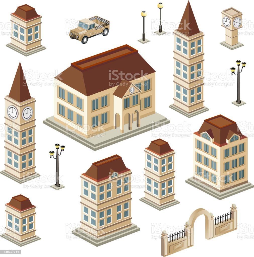 Antique buildings - Royalty-free Afbeelding vectorkunst