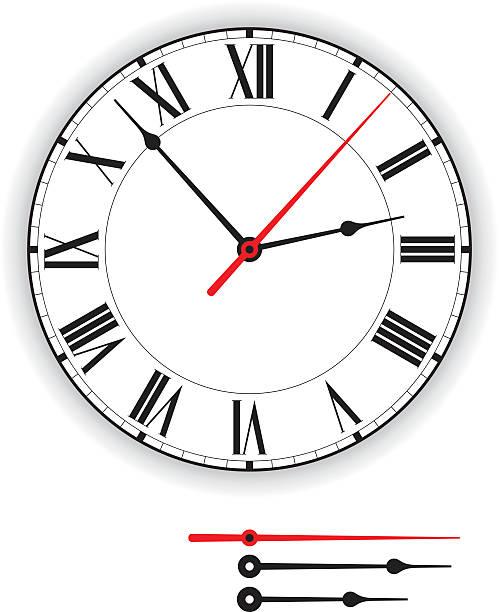 Antique Clock Face vector art illustration
