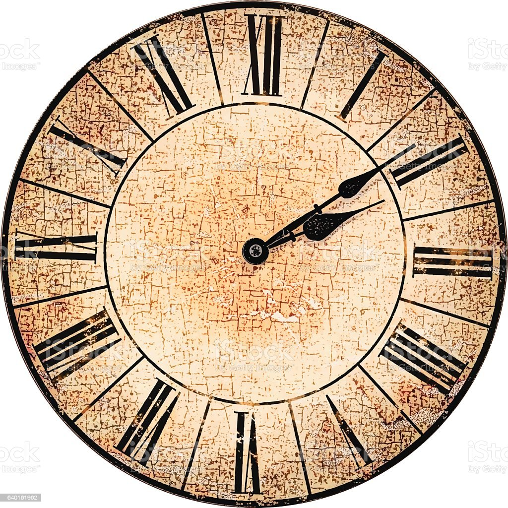Antique Clock Face Stock Illustration - Download Image Now ...