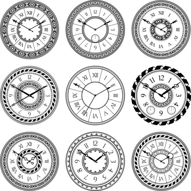 Best Antique Clock Illustrations, Royalty-Free Vector