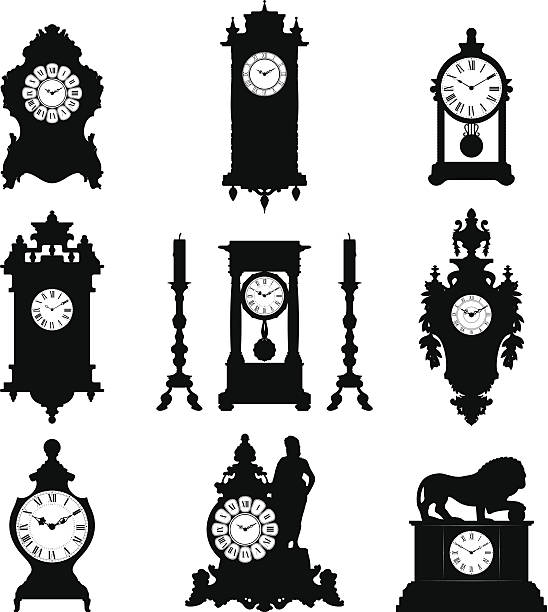 Best Grandfather Clock Illustrations Royalty Free Vector