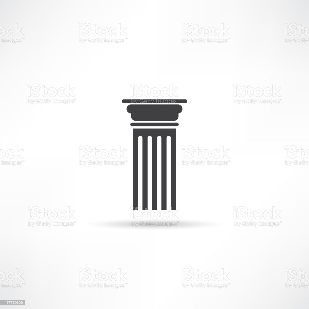 Antique Column Icon vector art illustration