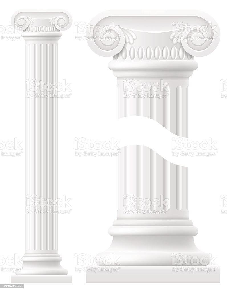 antique column stock vector illustration vector art illustration