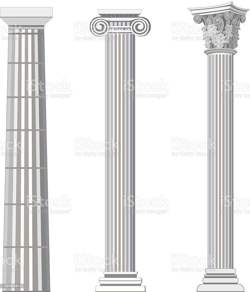 Antique Columns vector art illustration